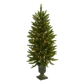 Nearly Natural 4-ft Pre-Lit Artificial Christmas Tree with Clear Lights 5369