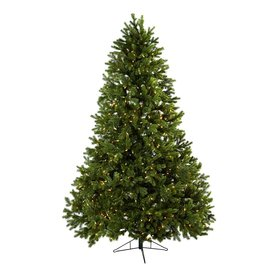 Nearly Natural 7-ft 6-in Pre-Lit Artificial Christmas Tree with 800-Count Clear Lights 5377