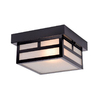 Acclaim Lighting Artisan 8.25-in W Matte Black Outdoor Flush-Mount Light