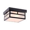 Acclaim Lighting Artisan 10.25-in W Matte Black Outdoor Flush-Mount Light