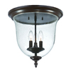 Acclaim Lighting Belle 14.25-in W Architectural Bronze Outdoor Flush-Mount Light