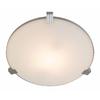 Access Lighting Luna 13.5-in W Brushed Steel Ceiling Flush Mount Light