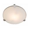 Access Lighting Luna 17.25-in W Brushed Steel Ceiling Flush Mount Light