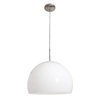 Access Lighting Acrolite 18-in W Brushed Steel Pendant Light with White Shade