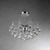Warehouse of Tiffany 18-in W Chrome Crystal Semi-Flush Mount Light