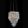 Warehouse of Tiffany 5-in W Matte Silver Crystal Pendant Light with Crystal Shade