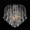 Warehouse of Tiffany Crystal 16-in W Chrome Crystal Semi-Flush Mount Light
