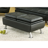 Coaster Fine Furniture Black Rectangle Ottoman