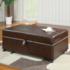 Coaster Fine Furniture Brown Rectangle Ottoman