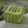 Modway Waverunner Wave Green Rectangle Ottoman
