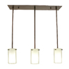 DVI Essex 26-in W 3-Light Oil Rubbed Bronze Kitchen Island Light with White Shade