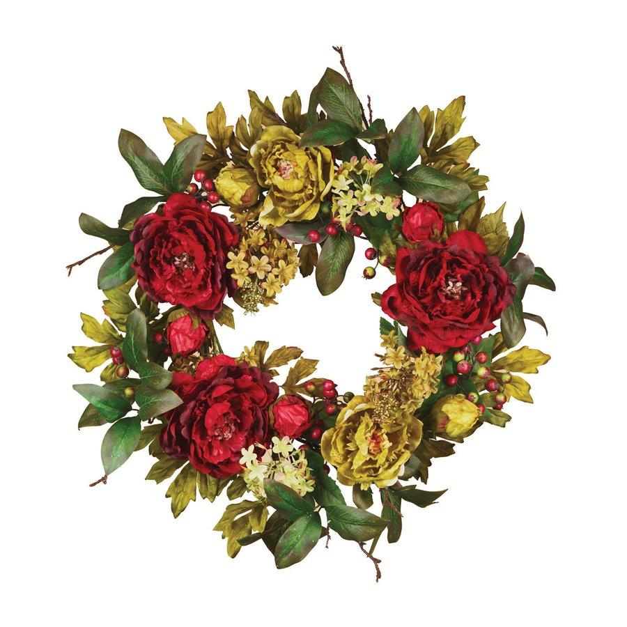 Shop oddity 1 20 in hydrangea indoor outdoor artificial for Exterior christmas wreaths