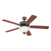 Monte Carlo Fan Company Homeowners Deluxe 52-in Tuscan Bronze Downrod or Close Mount Indoor Ceiling Fan with Light Kit (5-Blade)