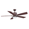 Kendal Lighting Avalon 52-in Oil-Brushed Bronze Downrod Mount Indoor Ceiling Fan with Light Kit and Remote Control