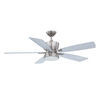 Kendal Lighting Avalon 52-in Satin Nickel Downrod Mount Indoor Ceiling Fan with Light Kit and Remote Control