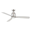 Kendal Lighting Quattro 52-in Satin Nickel Downrod Mount Indoor Ceiling Fan with Light Kit and Remote Control (3-Blade)