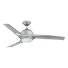 Kendal Lighting Magnum 52-in Platinum Downrod Mount Indoor Ceiling Fan with Light Kit and Remote Control (3-Blade)