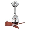 Matthews Diane 16-in Chrome Downrod Mount Indoor Ceiling Fan with Remote (3-Blade)