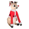5-ft 6.144-in Internal Light Rudolph Christmas Inflatable