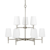 Sea Gull Lighting Driscoll 9-Light Brushed Nickel Chandelier ENERGY STAR