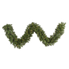 Vickerman 18-in x 9-ft Pre-Lit Grand Teton Artificial Christmas Garland with White Incandescent Lights