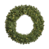 Vickerman 60-in Pre-Lit Grand Teton Artificial Christmas Wreath with White Incandescent Lights