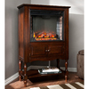 Boston Loft Furnishings 32.25-in W 4,700-BTU Mahogany Fan-Forced Electric Fireplace with Thermostat and Remote Control