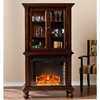 Boston Loft Furnishings 33.25-in W 4,700-BTU Espresso Fan-Forced Electric Fireplace with Thermostat and Remote Control