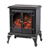 CorLiving 18.75-in W 5000-BTU Black Metal Electric Fireplace