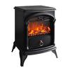 CorLiving 14.75-in W 5000-BTU Black Metal Electric Fireplace