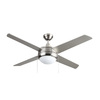 Royal Pacific Europa 50-in Brushed Nickel Downrod Mount Indoor Ceiling Fan with Light Kit (4-Blade) ENERGY STAR