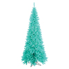 Vickerman 7.5-ft Pre-Lit Fir Slim Artificial Christmas Tree with Blue Incandescent Lights