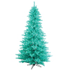 Vickerman 4.5-ft Pre-Lit Fir Blue Artificial Christmas Tree with Blue Incandescent Lights