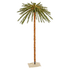 Vickerman Lighted Palm Tree Freestanding Tree Outdoor Christmas Decoration with White Incandescent Lights