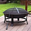 Jeco 30-in W Black/Gold Steel Wood-Burning Fire Pit