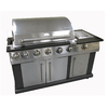 Landmann USA Avalon Stainless-Steel 4-Burner (520,000-BTU) Liquid Propane Infrared Burner Gas Grill with Side and Rotisserie Burner