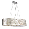 PLC Lighting Nest 12-in W Polished Chrome Hardwired Standard Pendant Light with Metal Shade