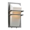 PLC Lighting Juventus 13.5-in H Silver Outdoor Wall Light
