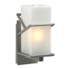 PLC Lighting Oxford 12.5-in H Silver Outdoor Wall Light