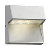 PLC Lighting Faro 6-in H LED Silver Dark Sky Outdoor Wall Light