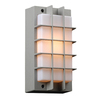 PLC Lighting Lorca 10.5-in H Silver Outdoor Wall Light