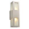PLC Lighting Tessa 16-in H Silver Outdoor Wall Light