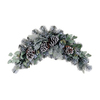 Northlight Allstate 32-in W x 16-ft L Artificial Christmas Garland with Flocked Pine, Eucalyptus, and Pine Cones