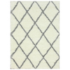 nuLOOM Shag Grey Rectangular Indoor Shag Area Rug (Common: 5 x 7; Actual: 63-in W x 90-in L)