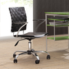 Zuo Modern Criss Cross Black Faux Leather Task Office Chair
