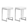 Zuo Modern Set Of 2 Darwen White 26-in Counter Stool