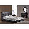 Zuo Modern Amelie Black Leatherette Queen Platform Bed