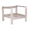 Zuo Modern Set Of 1 Cosmopolitan Brushed Aluminum Club Chair Frame