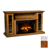 Topeka Innovative Concepts 64-in W 4770-BTU Quarter Sawn White Oak with Cherry Wood LED Electric Fireplace with Thermostat and Remote Control