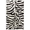 nuLOOM Shag Black/White Rectangular Indoor Shag Animals Area Rug (Common: 8 x 10; Actual: 96-in W x 120-in L)